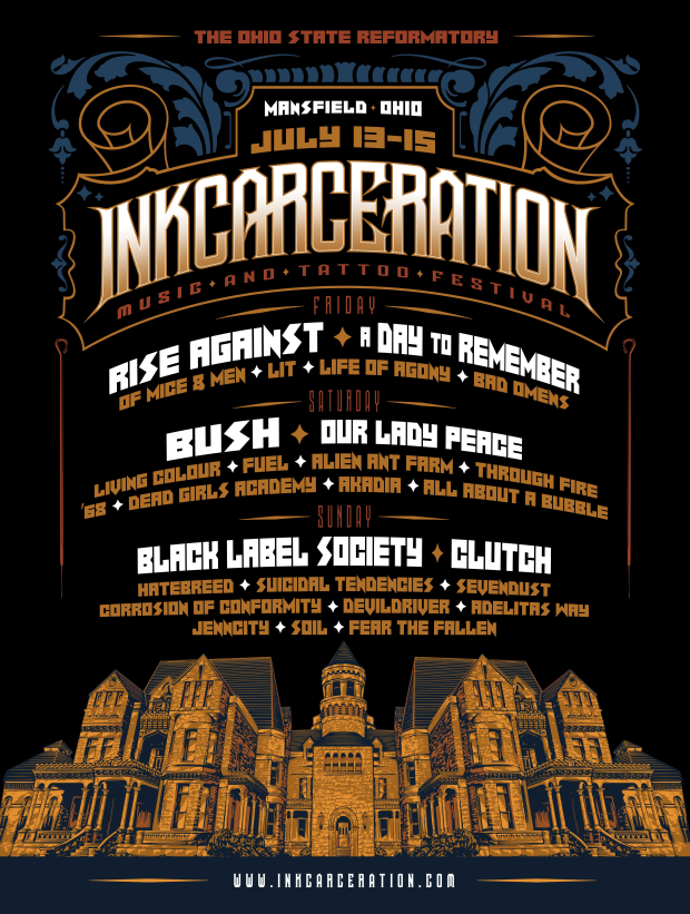 Countdown to INKCARCERATION Music and Tattoo Festival – this weekend!