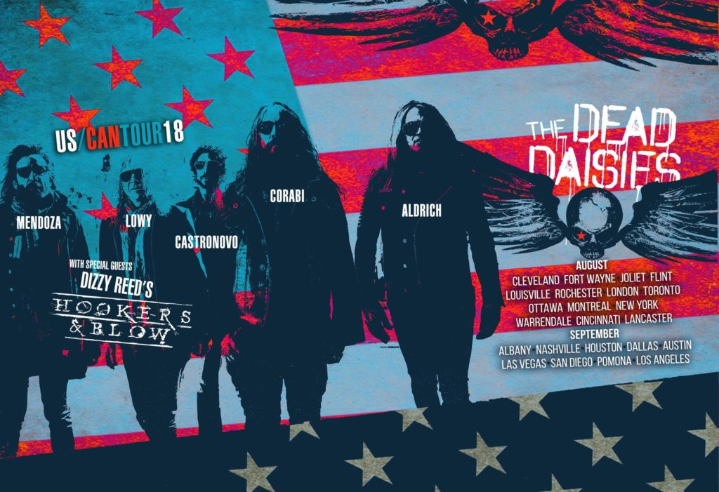 The Dead Daisies start their tour in Cleveland today with Hookers & Blow