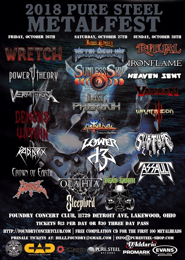 PURE STEEL RECORDS METALFEST  – The Foundry Oct 26-28th