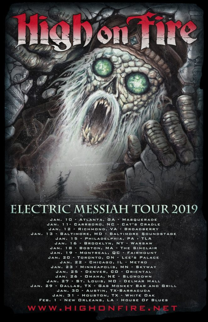 High On Fire Announce Electric Messiah Tour 2019
