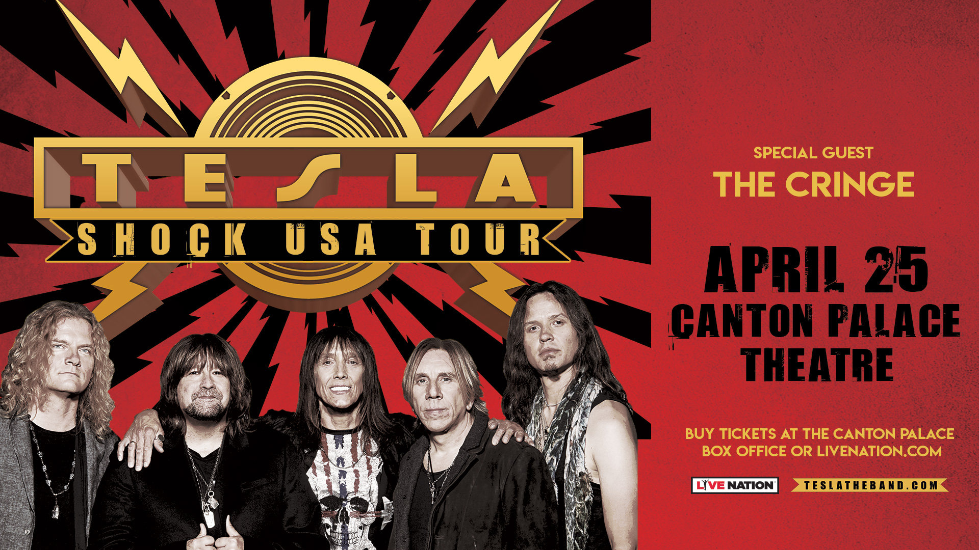 TESLA – 4/25 The Palace Theatre – Canton, OH