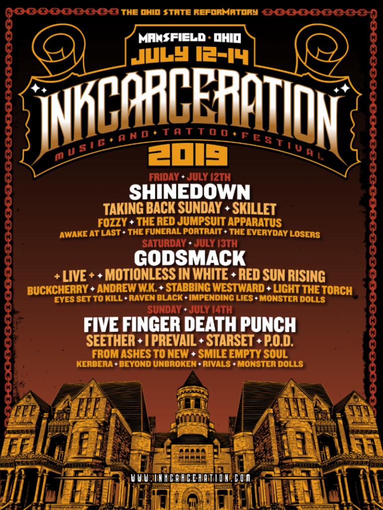 INKCARCERATION Music and Tattoo Festival Nearly Triples Attendance in Sold Out Second Year!!