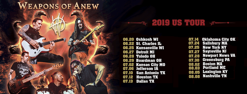 WEAPONS OF ANEW ANNOUNCE TOUR DATES WITH SCOTT STAPP AND MESSER, WORKING ON NEW ALBUM