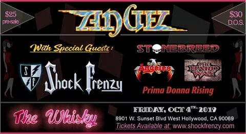 The Whisky presents – ANGEL with special guests Shock Frenzy, Stonebreed, Prima Donna Rising, The Hard Way and Angeles