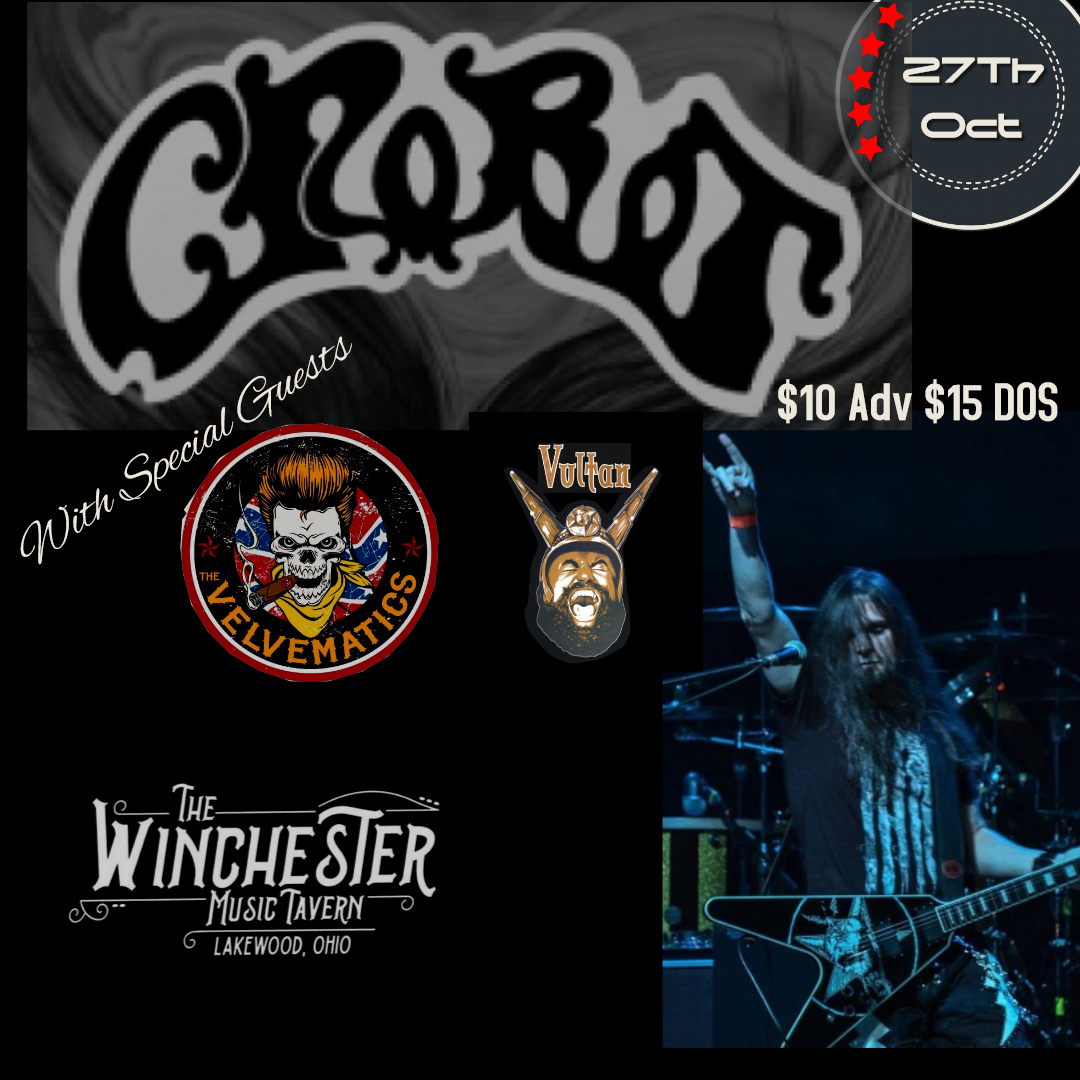 CROBOT, Vultan and The Velvematics – Oct 27th at The Winchester Music Tavern