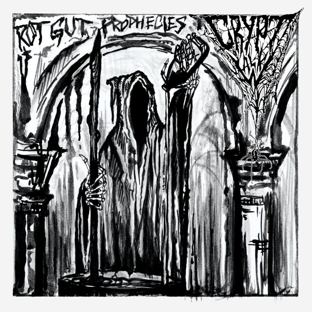 CRYPT WALK sign to Horror Pain Gore Death Productions; Rot Gut Prophecies set for release on September 25th